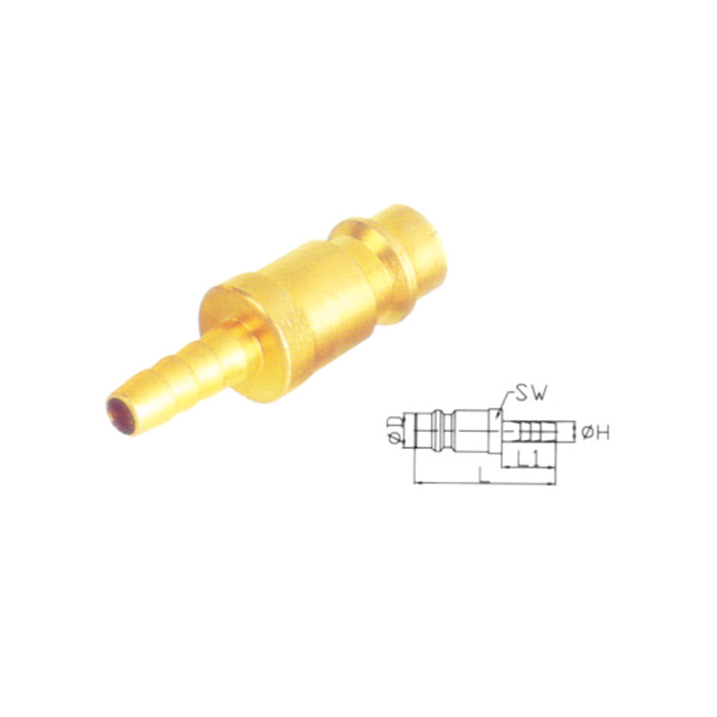Brass Quick Coupler Set Air Hose Connector Fittings JE6-PH