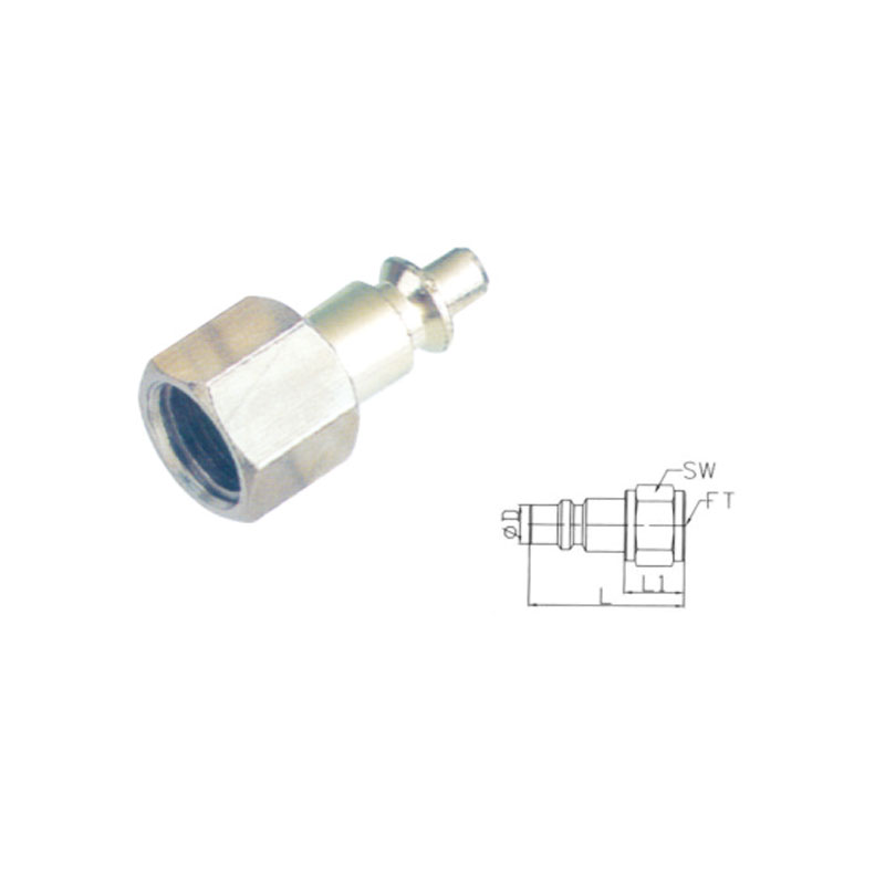 Female pneumatic quick connect coupler couplings JE11-PF