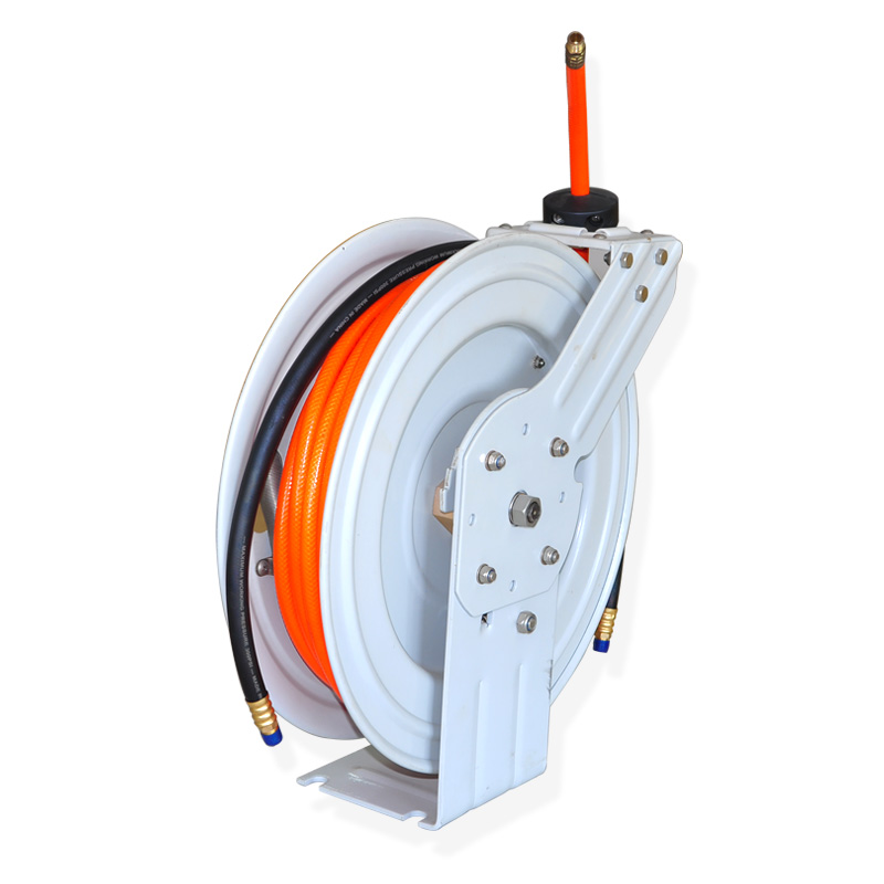 Air/Water Hose Reel Retractable Spring Driven heavy-duty