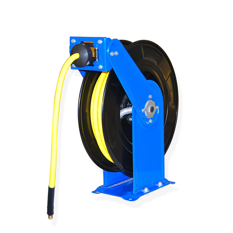 Wall Mount Auto Rewind Hose-Reel Dual Arm