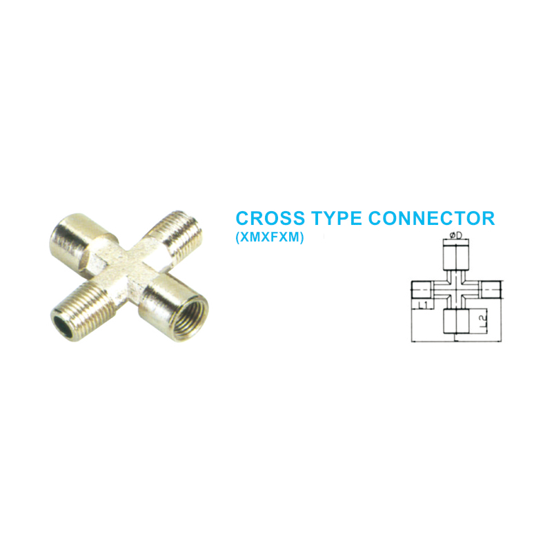 Cross type connector